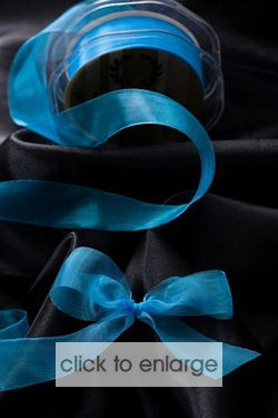 Sealed edge organza Marine 25mm